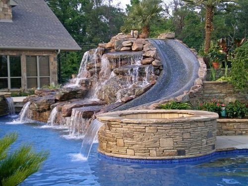 Water Park in backyard