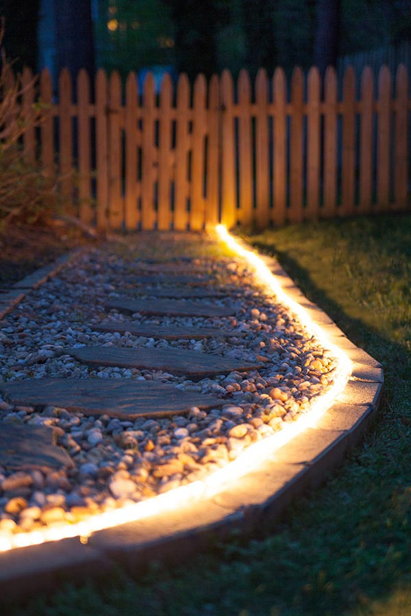 Use Rope Light In Your Backyard
